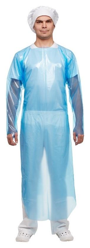 Фартук многораз Haccper Evatex EVA синий с рукавам 0,1мм, 12шт/уп (332000)  Haccper