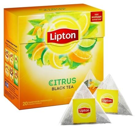 Чай Lipton Citrus черный пирамидки 20пак/пач  Lipton