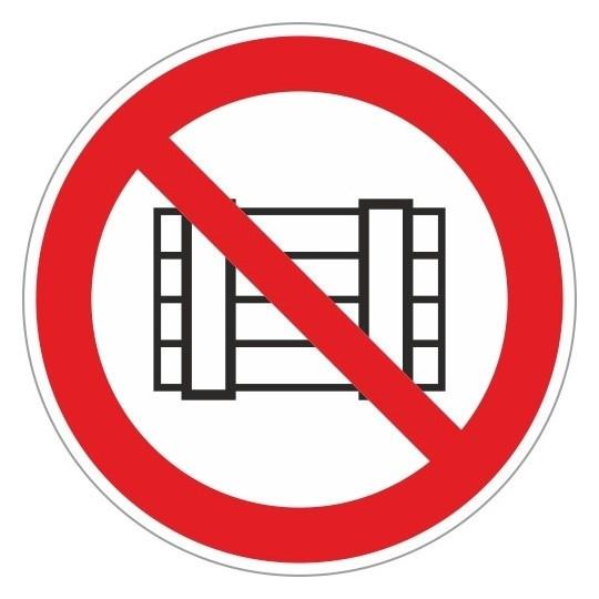 Знак безопасности P12 запр.загр-ть проходы и(Или)скл-ть(плёнка,200х200)  Технотерра