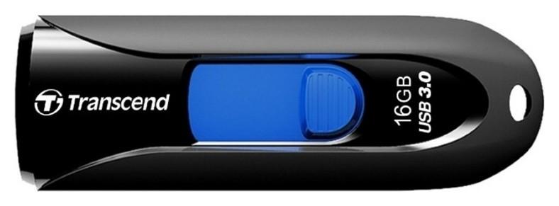 Флеш-память Transcend Jetflash 790, 16gb, USB 3.1 G1, ч/син, Ts16gjf790k  Transcend