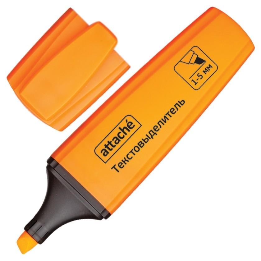 Маркер выделитель текста Attache Palette 1-5мм оранжевый  Attache