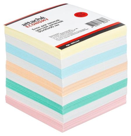 Блок-кубик Attache эконом запасной 9х9х9 цветной 60-80 г  Attache