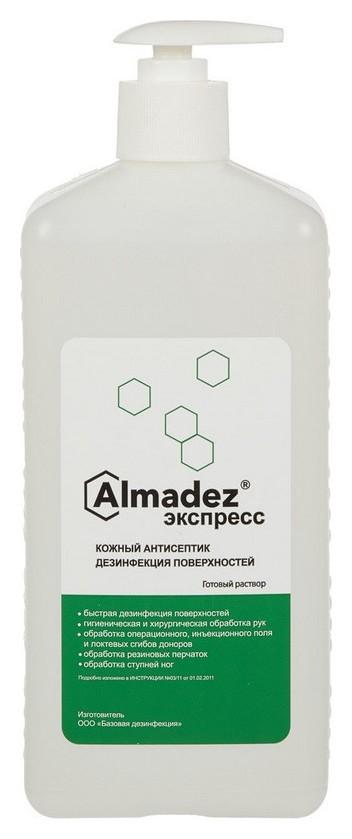 Антисептик кожный алмадез-экспресс 1,0 л (С дозатором)  Алмадез