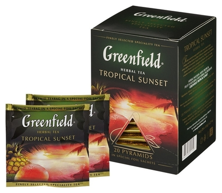 Чай Greenfield Tropical Sunset фруктовый фольгир. 20пак/уп 1159-08  Greenfield