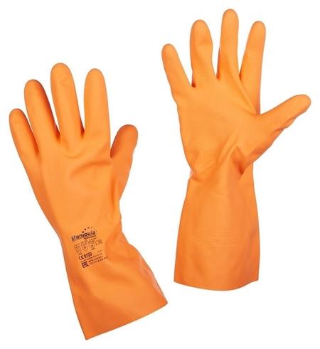 Перчатки защитные латекс Manipula цетра (L-f-04) р.9-9,5 (L)  Manipula