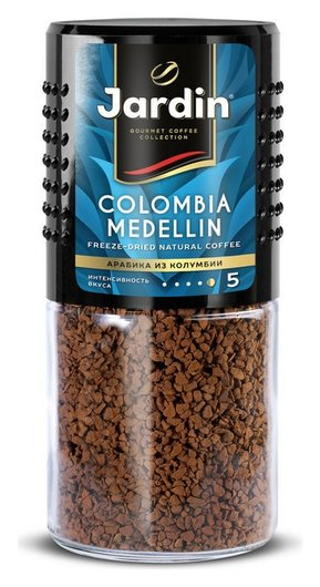 Кофе Jardin Colombia Medelin сублимированный ,95г стек.бан.  Jardin