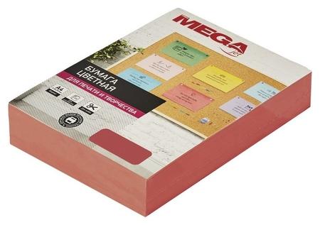 Бумага цветная Promega Jet (А4,80г,красный интенсив) пачка 500л MEGA