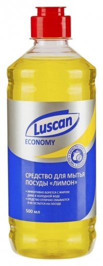 Средство для мытья посуды Luscan Economy 500мл лимон  Luscan