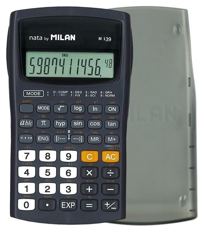Калькулятор Milan научный M139, 10+2 разряд, 139 функций, на батарейках ААА  Milan