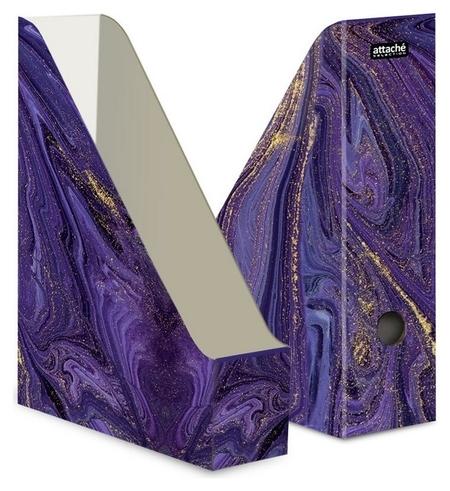 Вертикальный накопитель Attache Selection Fluid 75мм 1шт/уп фиолетовый  Attache