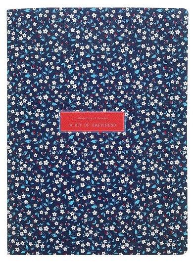 Тетрадь общая Besmart А4 40л, клетка, скрепка, Joli синий N1899  Be smart
