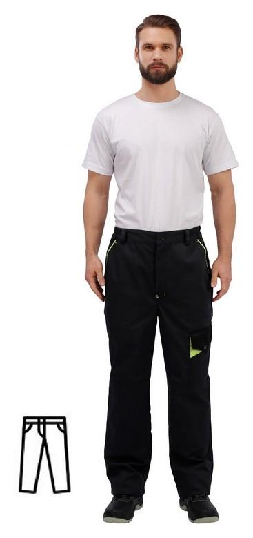 Спец.одежда летняя брюки муж. л27-бр т.сер/черн (Р.44-46) 182-188  NNB