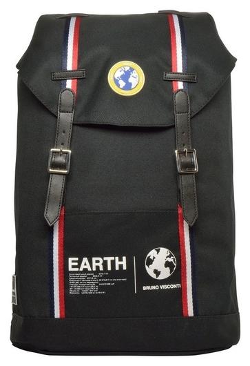 Рюкзак городской черный планета земля ,12-011-001/01  Bruno Visconti