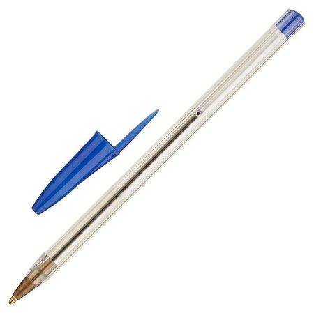 Ручка шариковая эконом, цвет чернил синий, 1 мм, прозрачный корпус  NNB