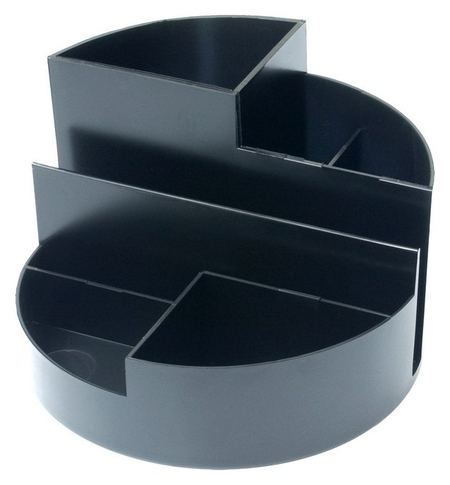 Подставка для канцелярских мелочей Attache профи 7 отделений черный Attache