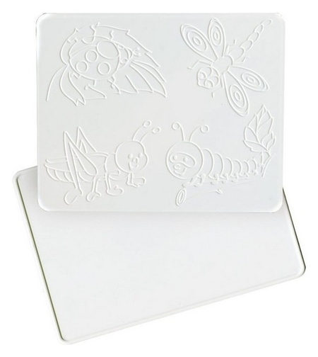 Доска для лепки 1,а5,с рельефным трафаретом  Луч