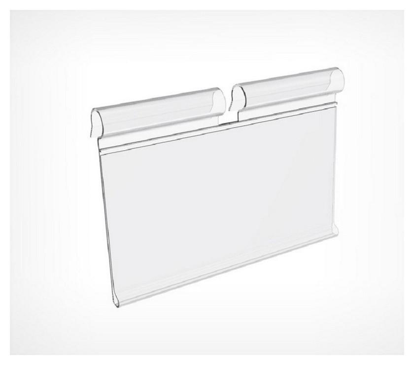 Ценникодержатель полочный на крючок откидной,70мм,100 шт/уп  NNB