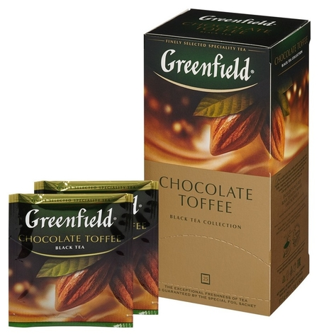 Чай Greenfield Chocolate Toffee черный 1,5гx25пак 1024-10  Greenfield