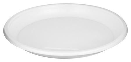 Тарелка одноразовая D-205мм, белая, бюджет, комус ПС 100шт/уп  Комус