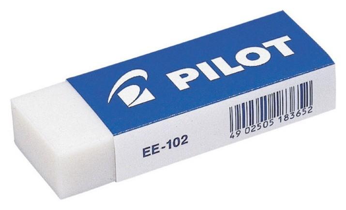 Ластик Pilot Ee102 винил, карт.держатель, цв.белый, япония, 61?22?12 мм. Pilot