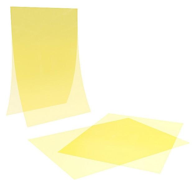 Карман-протектор PP A4 пластиковый антибликовый, цвет желтый (10 шт/уп)  NNB