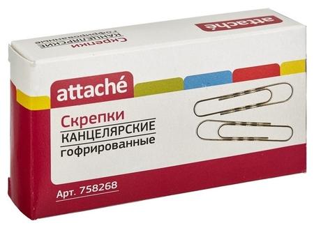 Скрепки Attache 75 мм, гофрированные, овальные 40 шт./уп.к/кор  Attache