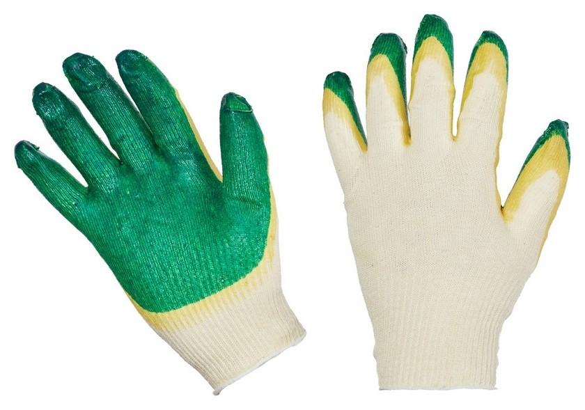 Перчатки защитные трикотажные с двойной латексной заливкой 13класс 10пар/уп  NNB