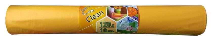 Мешки для мусора пвд120л 40мкм 10шт/рул желтый 70х108см  NNB