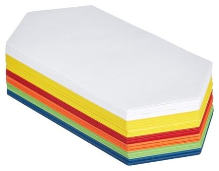 Карты модерационные шестиугольник удлинённый 250 листов  NNB