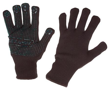 Перчатки защитные трикотажные Manipula механик блэк хлопок/нейлон (Tng-30)  Manipula