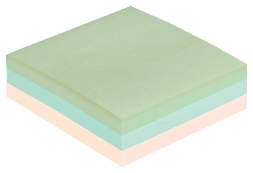 Блок-кубик Attache куб 76х76, пастель 3 цвета 300 л  Attache
