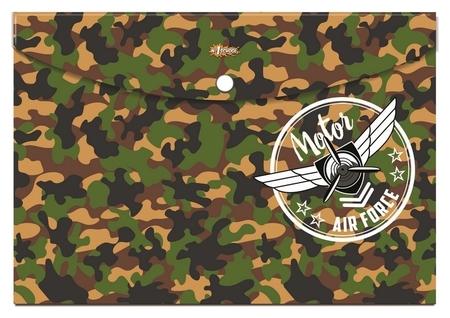 Папка-конверт на кнопке А4 №1school Military, 92831  №1 School