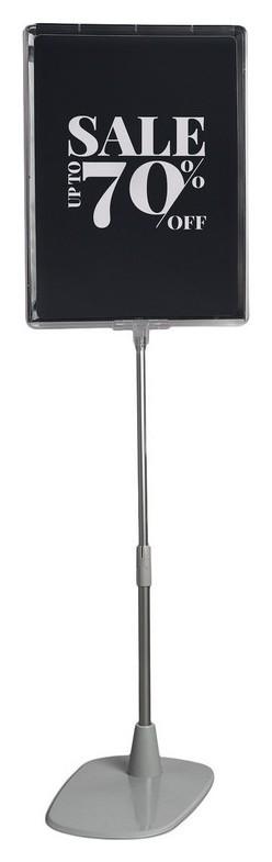 Стойка напольная раздвижная макс. 550мм,а4,прозрач. 2шт/уп (202356)  NNB