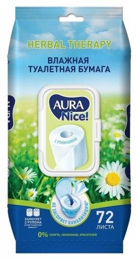 Бумага туалетная влажная Aura 72 шт./уп.  Aura