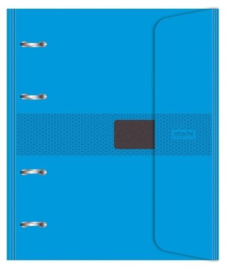 Бизнес-тетрадь со смен.блоком 120л,кл,а5, голубой,пропилен. обл. налипучке  Attache