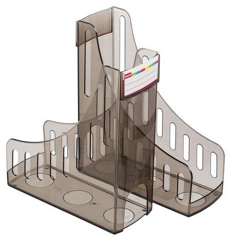 Вертикальный накопитель Attache 100мм тонировано-черный 2 шт/упк  Attache