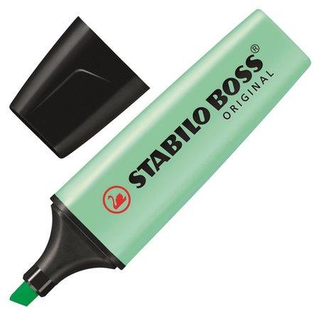 Маркер выделитель текста Stabilo Boss Original Pastel 70/116 мята 2-5мм  Stabilo