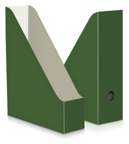 Вертикальный накопитель Attache Selection сrocus 75мм 2шт/уп Green Clover  Attache