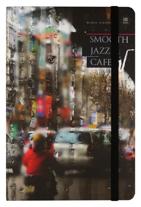 Блокнот А5 100л линия,горизонт Megapolis Journal Jazz Cafe 4 вида 3-477/03  Bruno Visconti