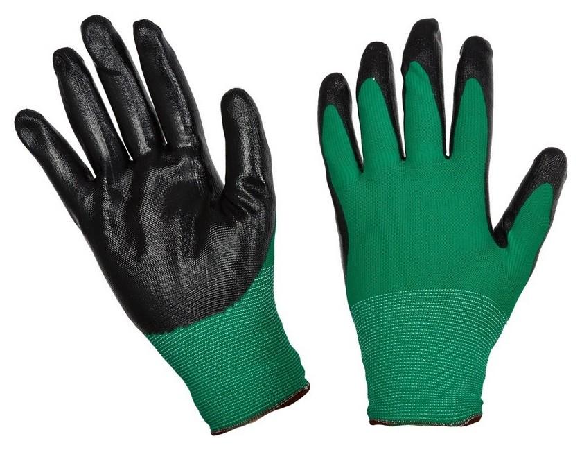 Перчатки защитные нейлоновые с нитриловым покрытием (Р.9) NNB