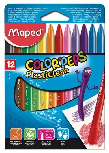 Мелки восковые Maped Color?peps Plasticlean 12 цв.  Maped