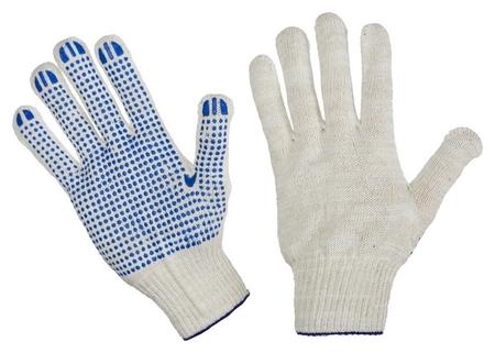 Перчатки защитные трикотажные с ПВХ точка 5 нитей 52г 10 класс 300 пар/уп  NNB