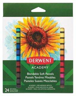 Пастель Derwent Academy мягкая 24 цв., 98216  Derwent