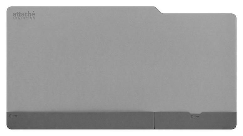 Коврик на стол Attache Selection 650х350мм с карман экокож мягк подлож сер  Attache