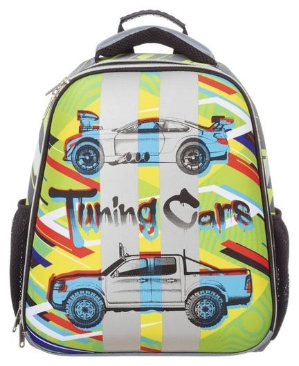 Ранец №1school Basic Tuning Cars, 2 отд., ортопед. Cпинка  №1 School