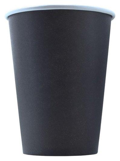 Стакан одноразовый бум 1-сл. D-90мм 400мл черный комус 50шт/уп  Комус