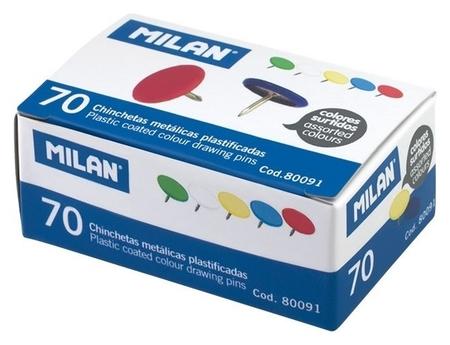 Кнопки Milan 10 мм, цветные 70 шт. карт.уп. 80091  Milan