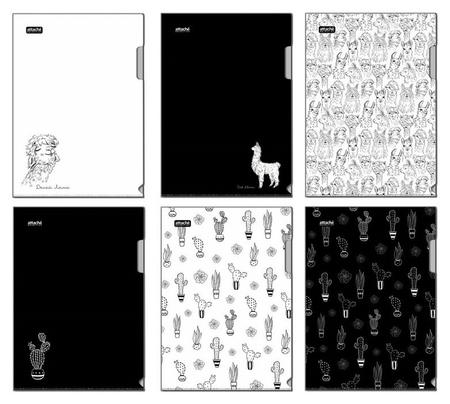Папка уголок Attache Selection Llamas, 6шт/уп  Attache