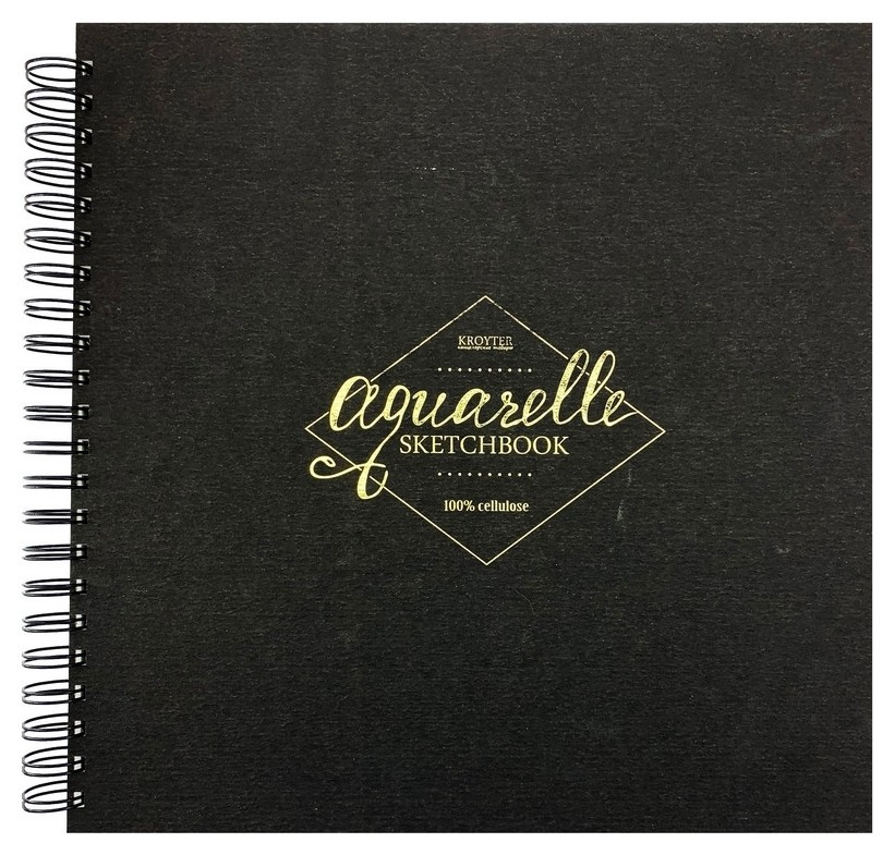 Альбом для рисов.акварелью Kroyter 295х295,30л,бл.200г,спир.acquerelo 00150  Kroyter
