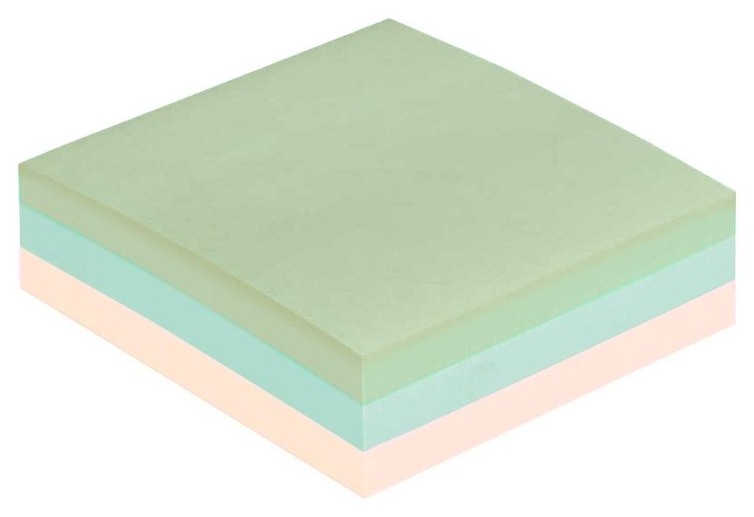 Блок-кубик Attache куб 51х51, пастель 3 цвета 300 л  Attache